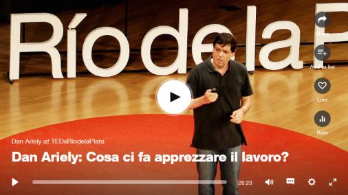 Dan Ariely Cosa ci fa apprezzare il lavoro