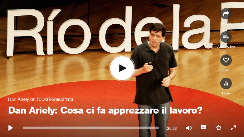 Dan Ariely (1): Cosa ci fa apprezzare illavoro?